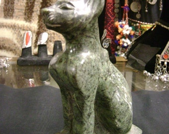 Egyptian Natural Alabaster Egyptian Cat MADE IN EGYPT
