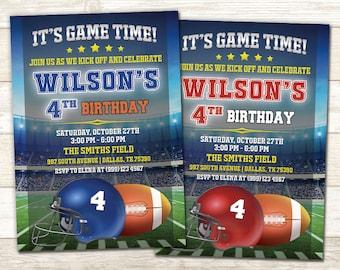 Football Birthday Invitation - Football Birthday Party - Football Birthday Party Invite - Sports Birthday Invitation
