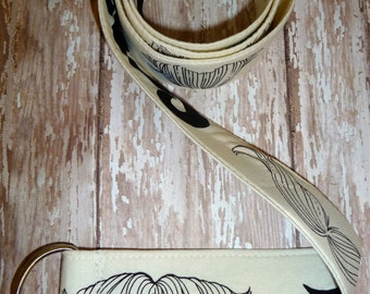 PERFECT GIFT - Fabric Belt - D Ring - Mustaches - Made in ANY Size - Boutique Mia