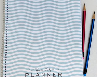 2018 Hairstylist Planner with Waves | Hairdresser Salon Appointment Book | Weekly | 13 months Jan 18 - Jan 19 |  Scheduling | Dated Planning