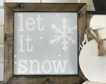 Let is snow sign