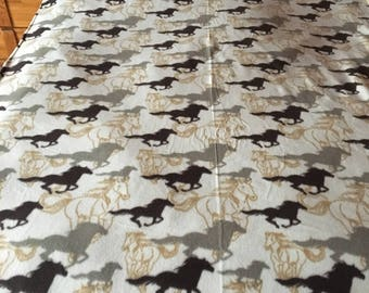 Twin Horse Fleece Blanket