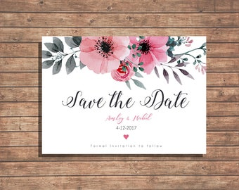 Save the Date Wedding Invite / Digital Download