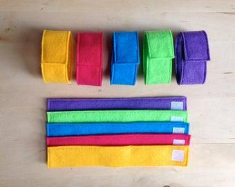 Felt Chain/Loop Busy Bag Activity - 10 Piece Set