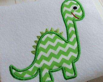 applique Dinosaur machine embroidery instant download file,  appliqué embroidery dinosaurs, appliqué design, baby dinosaur design