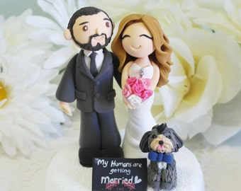 """Custom Cake Topper- """"My human are getting married"""""""