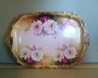 Vintage Rosenthal Porcelain Dresser Tray Signed Porcelain Alice Bavaria RC Porcelain