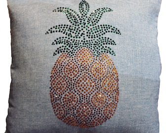 Rhinestone Pineapple Throw Pillow