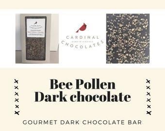 Bee Pollen Dark Chocolate Bar
