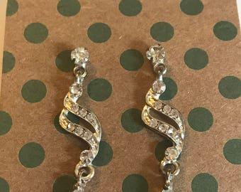 Sterling Silver Swarovski Crystal Dangle Earrings
