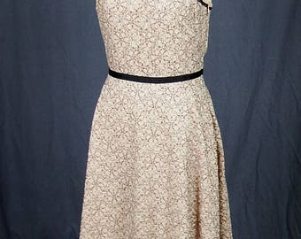 Vintage Inspired 80s Retro Swing Party Halter Dress