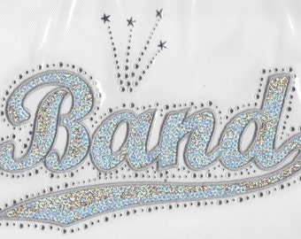 CLOSEOUT SALE Band Sequins and Rhinestone Heat Transfer Applique ONLY
