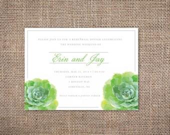 Watercolor Succulent Invitation