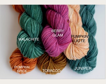 Hand dyed 100% Cashmere Yarn, ready to ship