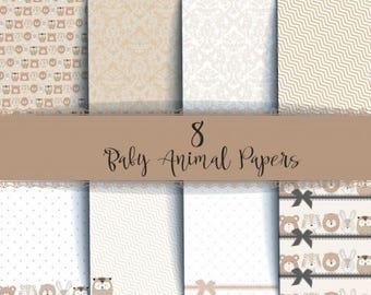 Nini's Things Paper Kit - Baby Animals