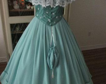 Civil War Ball Gown, 1860-1865 Women's Dress (Size 20) #NB-73