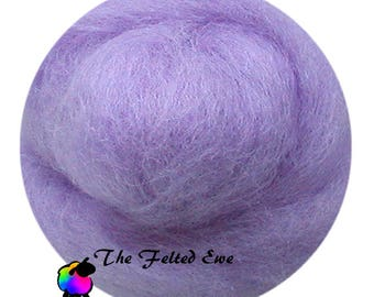 Needle Felting Wool Roving / DR65 Lavender Skys Carded Wool Roving