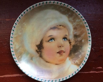 Vintage Christmas December 1983 The Snowbird Bessie Pease Gutman China Collectors Plate