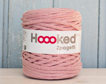 t-shirt yarn 135 yards, ecologic cotton, Zpagetti, Vintage Pink, recycled yarn, cotton yarn, elastic yarn