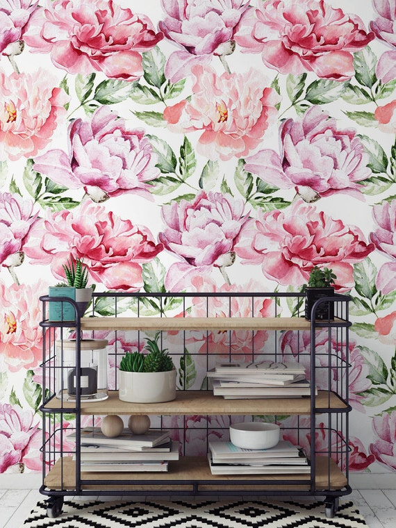 Flower Removable Wallpaper Large Peonies Peony