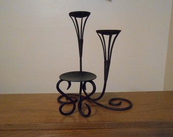 black set candle holder