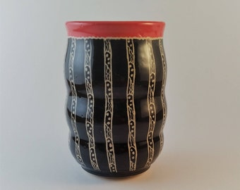 Ceramic tumbler, pottery cup, gift under 25