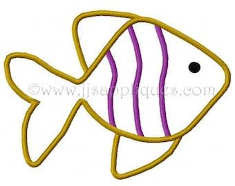 Instant Download - Ocean Fish Designs Sea Life Design - Fish Embroidery Applique Design 4x4, 5x7, 6x10 hoop sizes