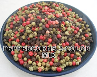 Unusual rainbow peppercorns 3 color mix 2 – 32 oz resealable bag