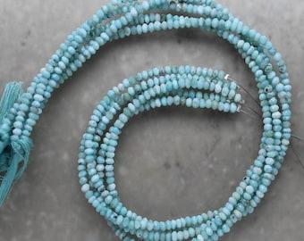 Larimar Rondelle 3.5mm Semi-Precious Gemstones
