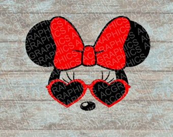 Sunglasses Minnie SVG, DXF, JPEG, and Studio Downloads