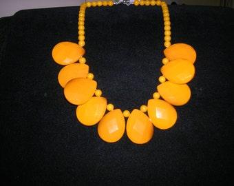 Mustard Tear Drop Necklace