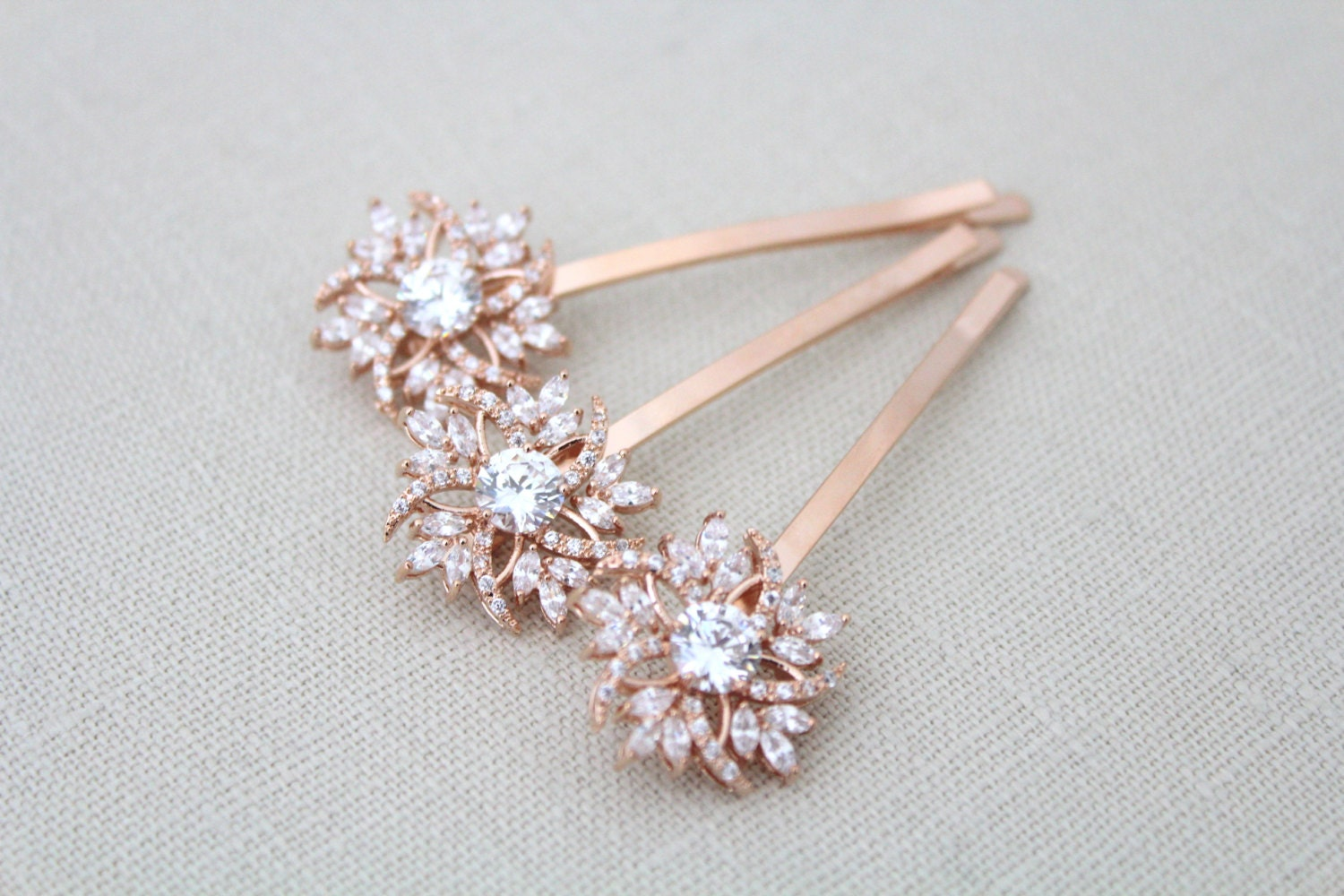 rose gold hair pin bridal hair pins rose gold wedding hair