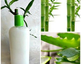 Bamboo & Aloe Herbal Conditioner - Bamboo Extracts, Silica Rich, Collagen, Calcium, Mineral Rich, Silk Amino Acids, ProVitamin B5,