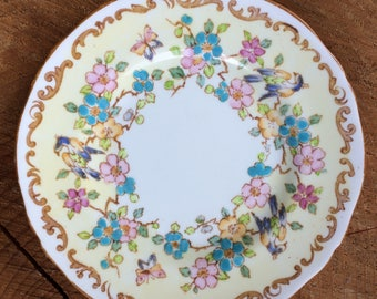 1906-1930s Vintage Floral Cake Plate - Fine Bone China by Crown Staffordshire