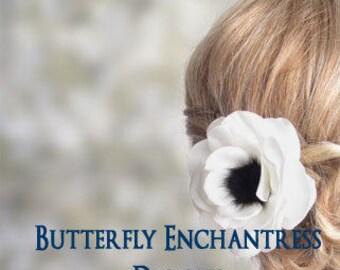 White Black Wedding, Bridal Hair Flowers, Hair Accessories - Solana Anemone Bridal Hair Flower Clip