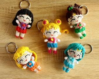 Sailor Scouts - Sailor Tenshi charms - Sailor Moon - 10 cm (4 inches) amigurumi