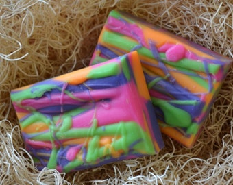 Psychedelic Citrus Patchouli Scent, Handcrafted Soap