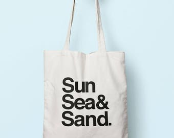 Sun Sea & Sand Tote Bag Long Handles TB00569