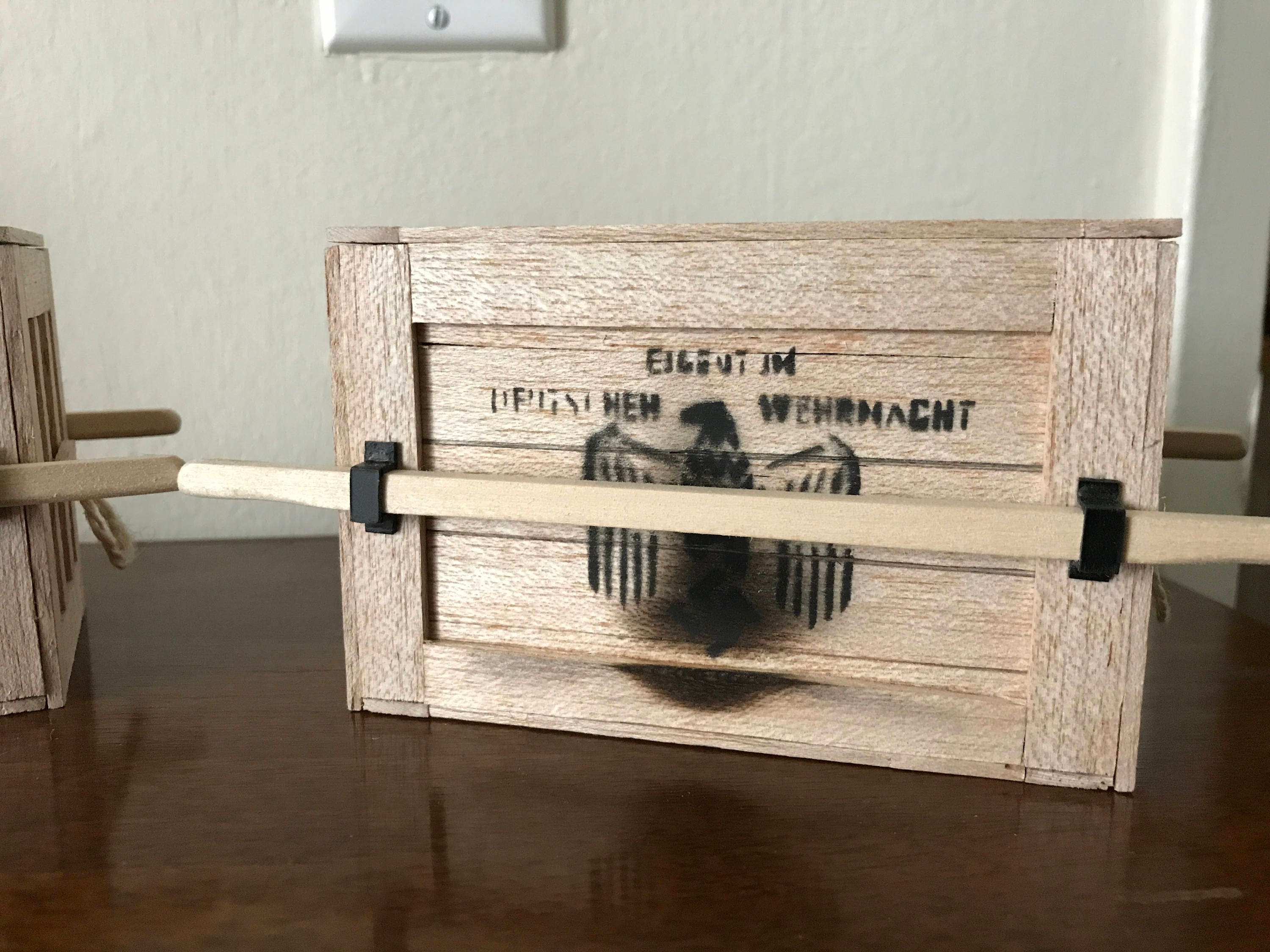 Indiana Jones Ark Of The Covenant Crate Scale Wooden Model