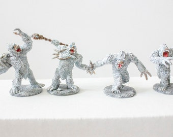 Yeti Miniatures - Set of 4, hand painted