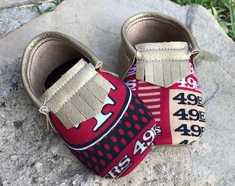 San Francisco 49ers - Baby Moccs- Baby Moccasins by TexasMoccs