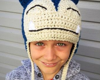 Pokemon Inspired Halloween Costume Crochet Earflap Hat - Kids or adult Size  - Childrens Accessories by Julian Bean