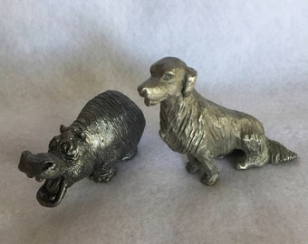 Pewter Hippo and/or Setter