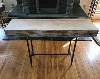 Live Edge Sycamore Table - Live Edge Wood Slab Tabletop - Console Table - Coffee Table