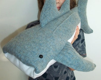 Wilbur Whale Shark Sewing Pattern - Large Soft Toy DIY Gift Digital Download