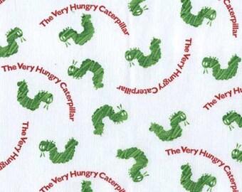 Destash Sale -The Very Hungry Caterpillar White fabric- 1 yard