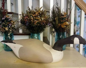 Hand Carved Canada Goose Decoy, 24""