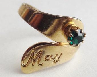 "May Birthstone ""Emerald"" Ring"