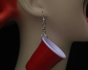Red cup earrings! Party with these 2 oz fun ear wear.  Be silly, be unique, be AWESOME!