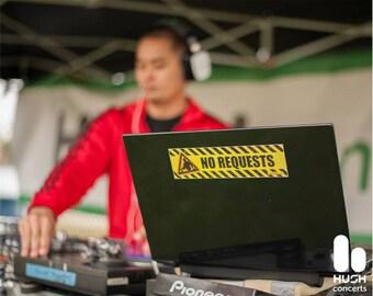 No Requests DJ Sticker